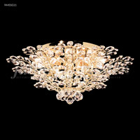 James R. Moder 94455G11 Florale Collection 14 Light 27 inch Gold Flush Mount Ceiling Light
