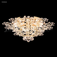 James R. Moder 94455S11 Florale Collection 14 Light 27 inch Silver Flush Mount Ceiling Light