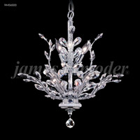 James R. Moder 94456S00 Florale Collection 8 Light 21 inch Silver Chandelier Ceiling Light