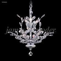 James R. Moder 94456S11 Florale 8 Light 21 inch Silver Crystal Chandelier Ceiling Light