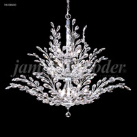 James R. Moder 94458S00 Florale 18 Light 38 inch Silver Crystal Chandelier Ceiling Light