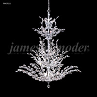 James R. Moder 94459S11 Florale 26 Light 38 inch Silver Entry Chandelier Ceiling Light