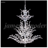 James R. Moder 94459S11 Florale 26 Light 38 inch Silver Entry Chandelier Ceiling Light Large