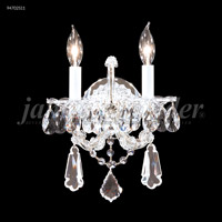Maria Theresa 2 Light Silver Wall Sconce Wall Light, Royal