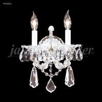 James R. Moder 94702S11 Maria Theresa Royal 2 Light 11 inch Silver Wall Sconce Wall Light Royal