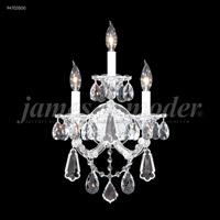 James R. Moder 94703S00 Maria Theresa Royal 3 Light 12 inch Silver Wall Sconce Wall Light Royal