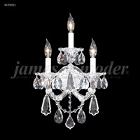 Maria Theresa 3 Light Silver Wall Sconce Wall Light, Royal