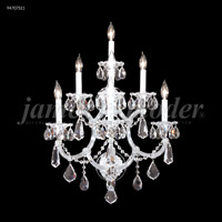 James R. Moder 94707S11 Maria Theresa Royal Collection 7 Light Silver Wall Sconce Wall Light Royal