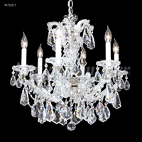 James R. Moder 94716S11 Maria Theresa Royal 6 Light 23 inch Silver Crystal Chandelier Ceiling Light, Royal
