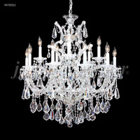 James R. Moder 94735S11 Maria Theresa 16 Light 31 inch Silver Chandelier Ceiling Light Royal