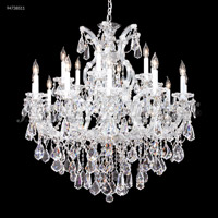 James R. Moder 94738S11 Maria Theresa 19 Light 37 inch Silver Chandelier Ceiling Light Royal