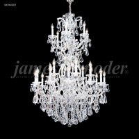 James R. Moder 94746S22 Maria Theresa Royal Collection 37 Light 46 inch Silver Entry Chandelier Ceiling Light Royal