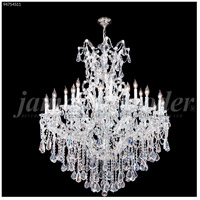 James R. Moder 94754S11 Maria Theresa Royal Collection 25 Light 46 inch Silver Entry Chandelier Ceiling Light Royal
