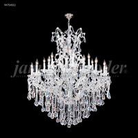 James R. Moder 94754S11 Maria Theresa 25 Light 46 inch Silver Entry Chandelier Ceiling Light Royal