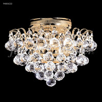 James R. Moder 94801S22 Jacqueline Collection 3 Light 11 inch Silver Flush Mount Ceiling Light