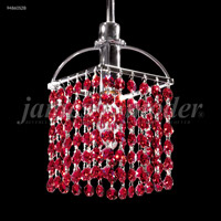 James R. Moder 94860S2B Tekno Mini 1 Light 6 inch Silver Crystal Chandelier Ceiling Light