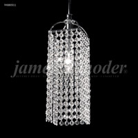 James R. Moder 94880S11 Tekno Mini Collection 1 Light 6 inch Silver Mini with Long Square Head Ceiling Light