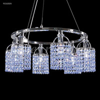 James R. Moder 95310S00 Tekno Mini Collection 6 Light 21 inch Silver Chandelier Ceiling Light