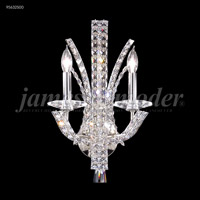 James R. Moder 95632S00 Eclipse Fashion 2 Light Silver Wall Sconce Wall Light