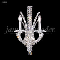 James R. Moder 95632S22 Eclipse Fashion 2 Light Silver Wall Sconce Wall Light