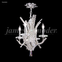 James R. Moder 95634S22 Eclipse Fashion 4 Light 16 inch Silver Mini Chandelier Ceiling Light