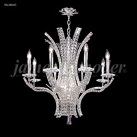 Eclipse Fashion 8 Light 28 inch Silver Chandelier Ceiling Light