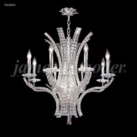 James R. Moder 95638S11 Eclipse Fashion 8 Light 28 inch Silver Chandelier Ceiling Light