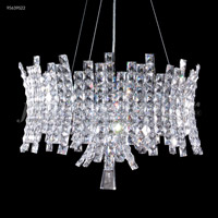 James R. Moder 95639S22 Eclipse Fashion 12 Light 22 inch Silver Pendant Ceiling Light