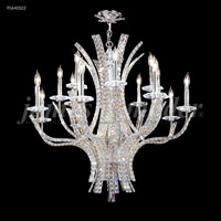 James R. Moder 95640S22 Eclipse Fashion 16 Light 35 inch Silver Chandelier Ceiling Light