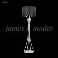 James R. Moder 95642S11-71 Eclipse Fashion Collection 63 inch 60 watt Silver Floor Lamp Portable Light