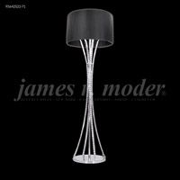 James R. Moder 95642S11-76 Eclipse Fashion Collection 63 inch 60 watt Silver Floor Lamp Portable Light