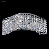 Fashionable Broadway 6 Light Silver Vanity Bar Wall Light
