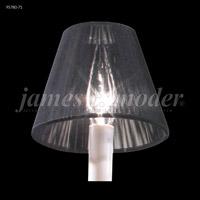 James R. Moder 95780-71 Shades & Accessories Black Silk String 3 inch Clip-on String Shade