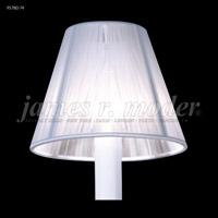 James R. Moder 95780-74 Shades & Accessories White Silk String 3 inch Clip-on String Shade