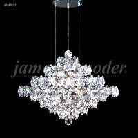 James R. Moder 95889S22 Continental Fashion 37 Light 34 inch Silver Chandelier Ceiling Light