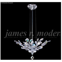 James R. Moder 95926S00 Florale 4 Light 21 inch Silver Pendant Ceiling Light, Convertible to Flush Mount