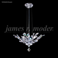 James R. Moder 95926S00 Florale Collection 4 Light 21 inch Silver Pendant Ceiling Light Convertible to Flush Mount