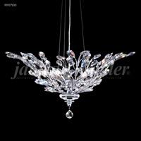 James R. Moder 95927S00 Florale Collection 5 Light 27 inch Silver Pendant Ceiling Light
