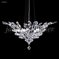 James R. Moder 95927S11 Florale Collection 5 Light 27 inch Silver Pendant Ceiling Light