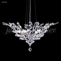 James R. Moder 95927S22 Florale 5 Light 27 inch Silver Crystal Chandelier Ceiling Light
