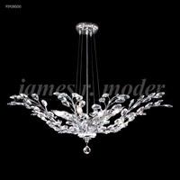 James R. Moder 95928S00 Florale Collection 8 Light 38 inch Silver Pendant Ceiling Light