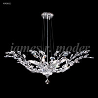 James R. Moder 95928S22 Florale Collection 8 Light 38 inch Silver Pendant Ceiling Light