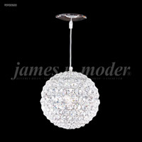 James R. Moder 95930S00 Sun Sphere Collection 1 Light 5 inch Silver Pendant Ceiling Light