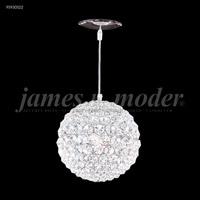 James R. Moder 95930S22 Sun Sphere 1 Light 5 inch Silver Crystal Chandelier Ceiling Light