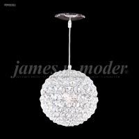 James R. Moder 95931S11 Sun Sphere 3 Light 8 inch Silver Crystal Chandelier Ceiling Light