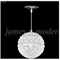 James R. Moder 95931S22 Sun Sphere 3 Light 8 inch Silver Crystal Chandelier Ceiling Light