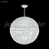 James R. Moder 95938S00LED Sun Sphere LED 32 inch Silver Chandelier Ceiling Light