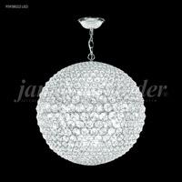 James R. Moder 95938S22LED Sun Sphere LED 32 inch Silver Chandelier Ceiling Light