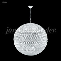 James R. Moder 95940S00 Sun Sphere Collection 32 Light 40 inch Silver Chandelier Ceiling Light