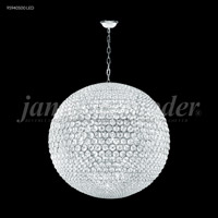 Sun Sphere LED 40 inch Silver Chandelier Ceiling Light